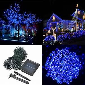 Guirlande Noel Solaire : 500 led solar powered fairy string light garden party decor xmas sale ~ Teatrodelosmanantiales.com Idées de Décoration