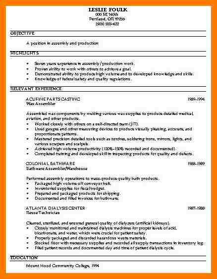 process worker sle resume 28 images 9 warehouse