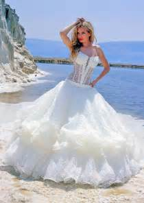 the top wedding dresses see through corset wedding dress