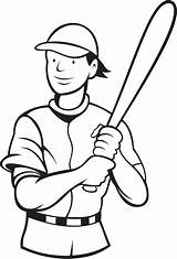 Coloring Baseball Pages Player Batter Batting Sport Super Sports Drawing Stance Printable Swinging Adults Colo Getcolorings Paper sketch template