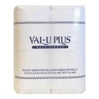wholesale val u plus bath tissue 2 ply 150 sheets 4 glw