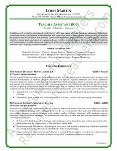 sample teacher resumes view page two of this teacher With free teacher assistant resume template