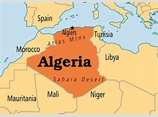 World Map Algeria