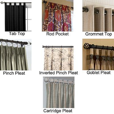 choose  drapery style types  curtains