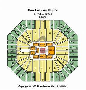 Don Haskins Center Tickets Don Haskins Center Seating