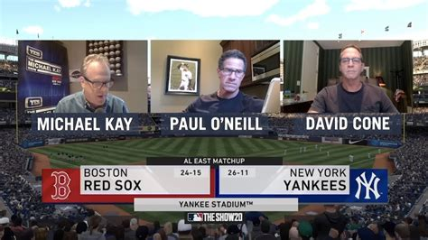 5/8: Red Sox vs. Yankees with Kay, O'Neill & Cone - MLB ...