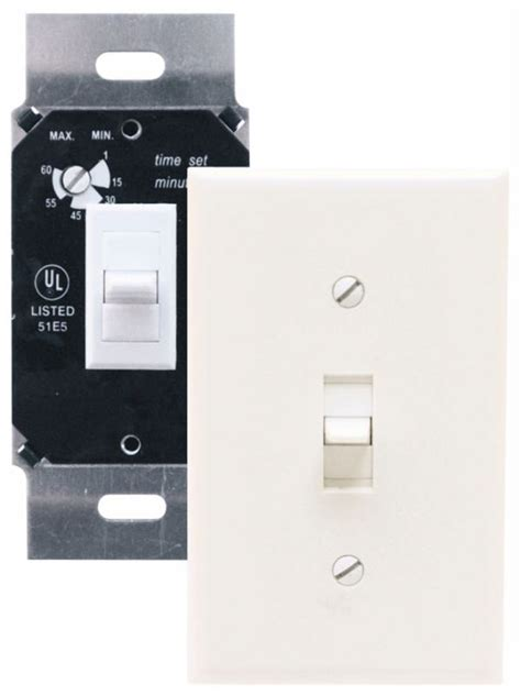 exhaust fan timer switch air king akdt60w white exhaust fan control switch with