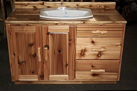 Rustic Bathroom Furniture by Rustic Cedar Bathroom Vanity Barn Wood Furniture