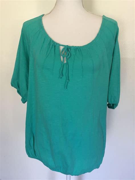 teal blouses loft teal green knit top shirt blouse