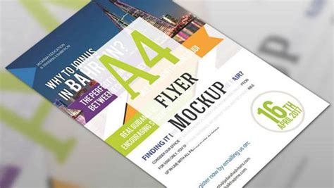 flyer mockup blurred template css author