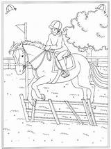 Coloring Horse Pages Jumping Popular Printable sketch template