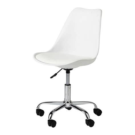 bureau à roulettes chaise de bureau à roulettes blanche bristol maisons du