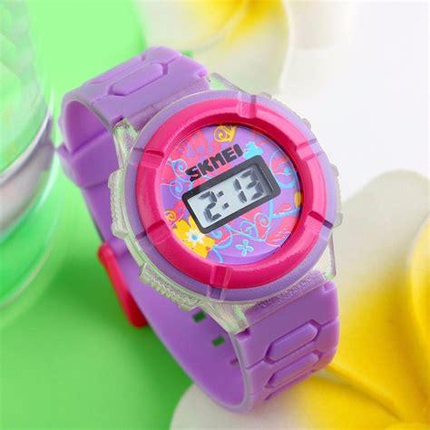 jual jam tangan anak perempuan original skmei import warna ungu di lapak jam import original
