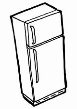 Fridge Freezer Coloring sketch template