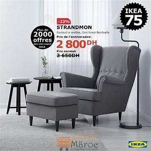 soldes ikea maroc fauteuil a oreilles strandmon 2800dhs au With fauteuil promotion soldes
