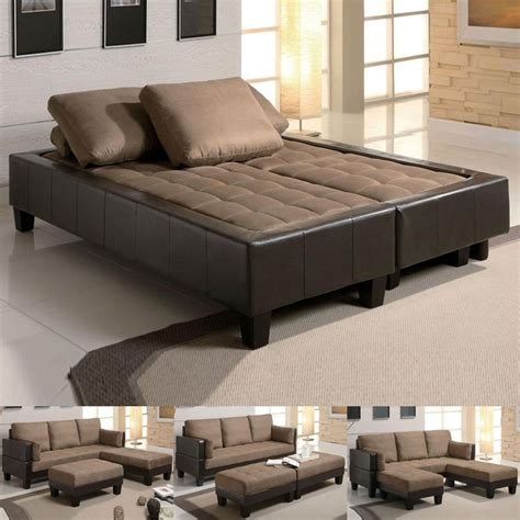 Leather Sleeper Sectional Sofa Bed by Faux Leather Convertible Sofa Bed Sectional Sofa