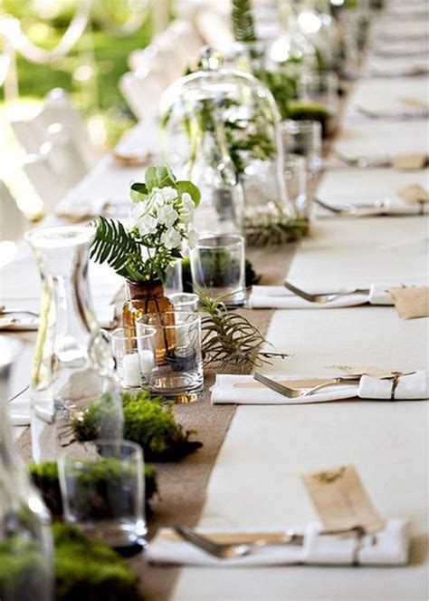 centre de table vegetal decoration vegetale  idees