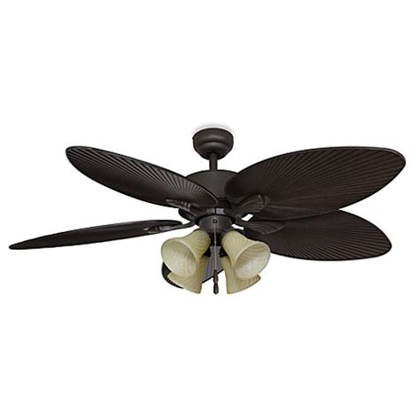 52 inch ceiling fan palm clay 52 inch 4 light ceiling fan bed bath beyond