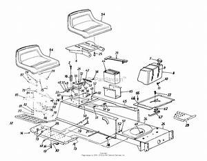 Mtd 13bh670f062  2000  Parts Diagram For Seat  Fuel Tank  Battery  Frame