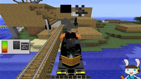 minecraft trains  zeppelin mod  youtube