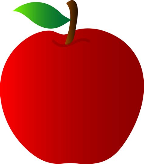 Red Apple Vector Art - Free Clip Art