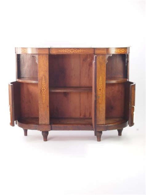 Walnut Credenza - small antique burr walnut credenza sideboard for