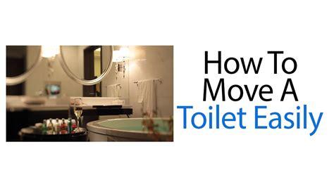 move  toilet easily youtube
