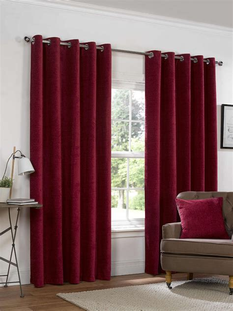 eyelet ring top curtains fully lined ready made heavy