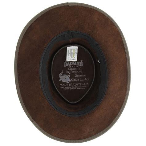 barmah  cc choc squashy bronco leather hat  cooper