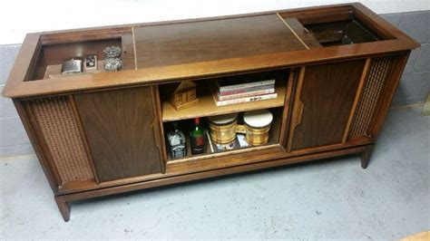 vintage stereo cabinet repurposed magnavox tv stereo cabinet repurposed as a credenza