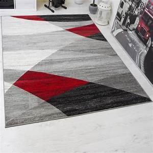 Tapis Noir Et Rouge : tapis salon rouge et gris achat vente tapis salon rouge et gris pas cher cdiscount ~ Dallasstarsshop.com Idées de Décoration
