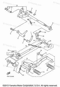 Yamaha Motorcycle 2006 Oem Parts Diagram For Shift Shaft