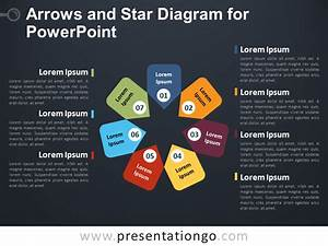 Arrows And Star Diagram For Powerpoint