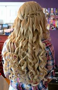 Curly Hairstyles For Prom Half Up Half Down Twist 2018