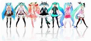 Hatsune Miku Lineup by chuwenjie on DeviantArt