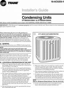 Trane Air Conditioner  Heat Pump Outside Unit  Manual L0903229