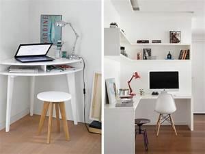 Petit Bureau Angle : des id es d co pour exploiter un angle joli place ~ Teatrodelosmanantiales.com Idées de Décoration