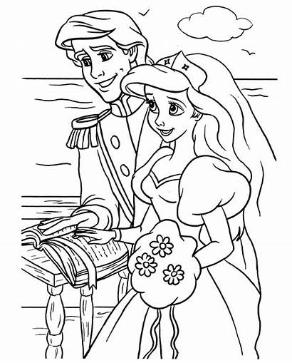 Coloring Mermaid Pages Colouring Ariel Disney Spring