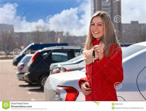 Girl And Car Stock Photo. Image Of Parking, Rejoice