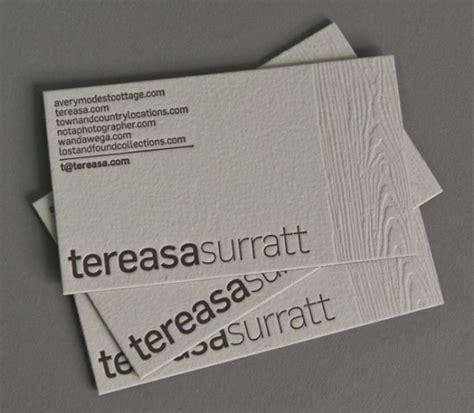 show  depth  letterpress business cards design