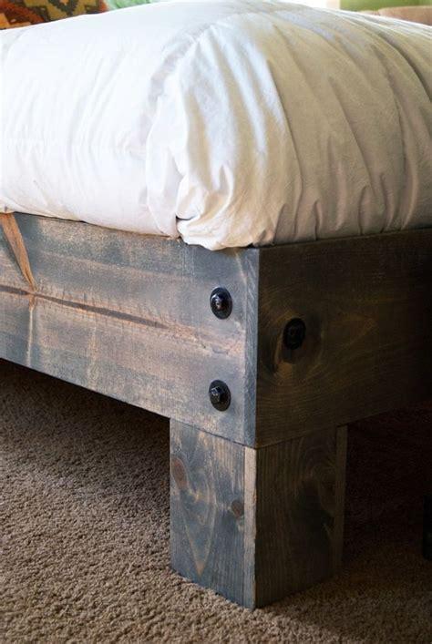 platform bed plans  ideas cozy diy