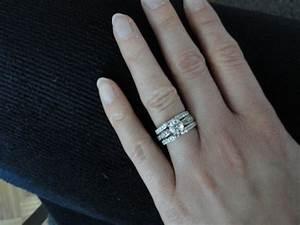 help contour wedding band or guard wrap with e ring With wedding ring guard bands
