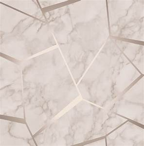 Fine Decor Wallpaper Fractal Marble Rose Gold FD42264