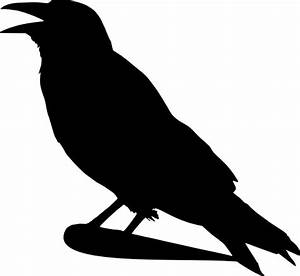 Crow Silhouette Clip Art at Clker.com - vector clip art ...