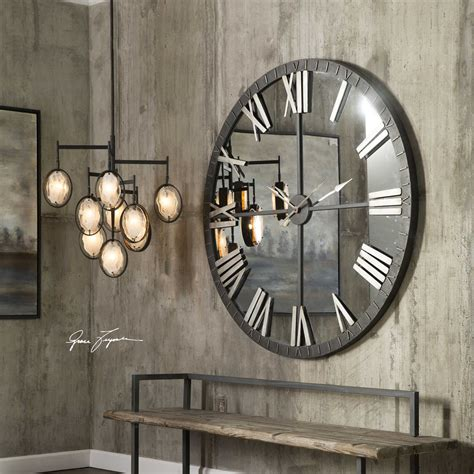 Uttermost Wall by Uttermost Amelie Large Bronze Wall Clock