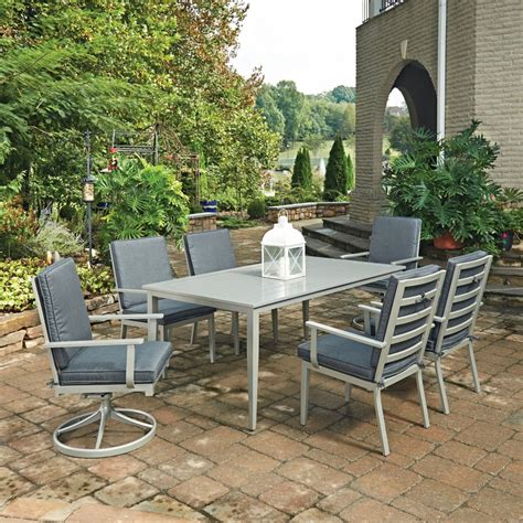 outdoor table ls south 7 pc rectangular outdoor dining table with 4