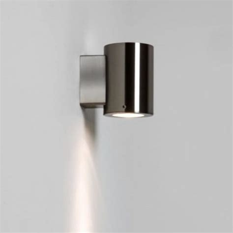 astro lighting detroit single light outdoor wall fitting in brushed stainless steel finish