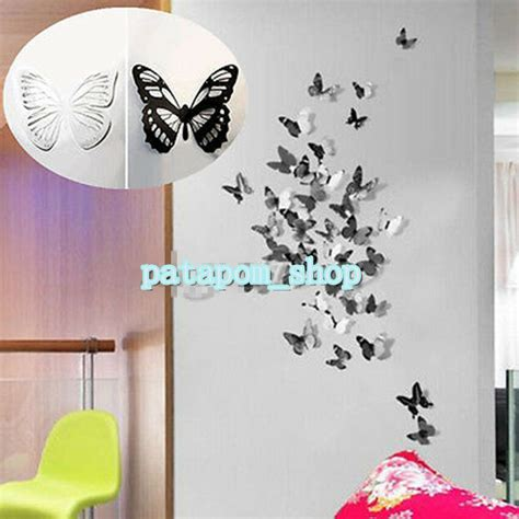 Home Decor Sticker by 3d 18pcs Diy Home Decoration Butterfly Sticker Decal