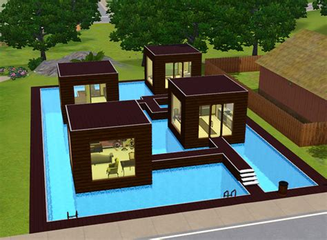 simple sims houses ideas mod the sims water chestnut