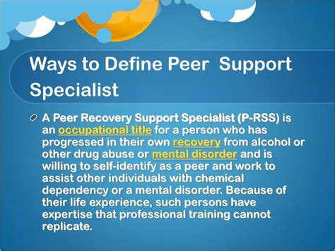 Ppt  Being An Effective Peer Support Specialist